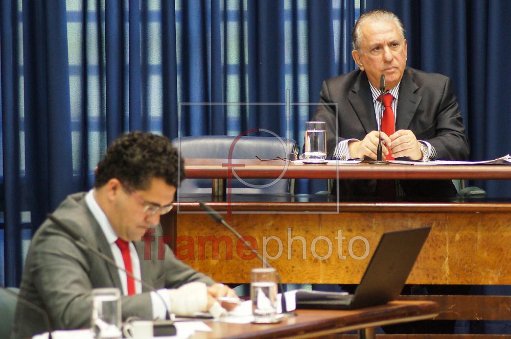 Sao Paulo,SP- 26/10/2016 - Sr. Sebastiao Misiara,Presidente da Uniao dos Vereadores do Estado de Sao Paulo,UVESP, depoe na CPI da Merenda na manha desta quarta feira,26, na ALESP.Foto: Marco Ambrosio/FramePhoto