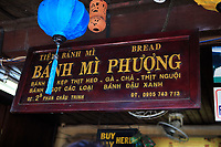 The entrance to the famous Banh Mi Phuong restaurant in Hoi An, Vietnam