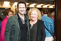 Peter Crawley and Joan Sheehy, actor , Director at the Ulster Bank sponsored evening at The Galway International Arts Festival's production of Frank McGuinnesses'  The Match Box, starring Cathy Belton At the Town Hall Theatre. Photo:Andrew Downes.