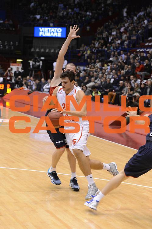 DESCRIZIONE : Milano Eurolega Eurolegue 2012-13 Ea7 Emporio Armani Milano Efes Istanbul<br /> GIOCATORE : Alessando Gentile<br /> SQUADRA : Ea7 Emporio Armani Milano<br /> CATEGORIA : palleggio<br /> EVENTO : Eurolega 2012-2013<br /> GARA : Ea7 Emporio Armani Milano Efes Istanbul<br /> DATA : 12/10/2012<br /> SPORT : Pallacanestro<br /> AUTORE : Agenzia Ciamillo-Castoria/GiulioCiamillo<br /> Galleria : Eurolega 2012-2013<br /> Fotonotizia : Milano Eurolega Eurolegue 2012-13 Ea7 Emporio Armani Milano Efes Istanbul<br /> Predefinita :