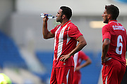 Adil Rami of Sevilla during the Pre-Season Friendly match between Brighton and Hove Albion and Sevilla at the American Express Community Stadium, Brighton and Hove, England on 2 August 2015.