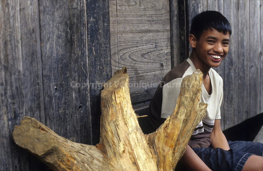 YOUNG BOY IN A MOUNTAIN VILLAGE, LUZON ISLAND, THE PHILIPPINES