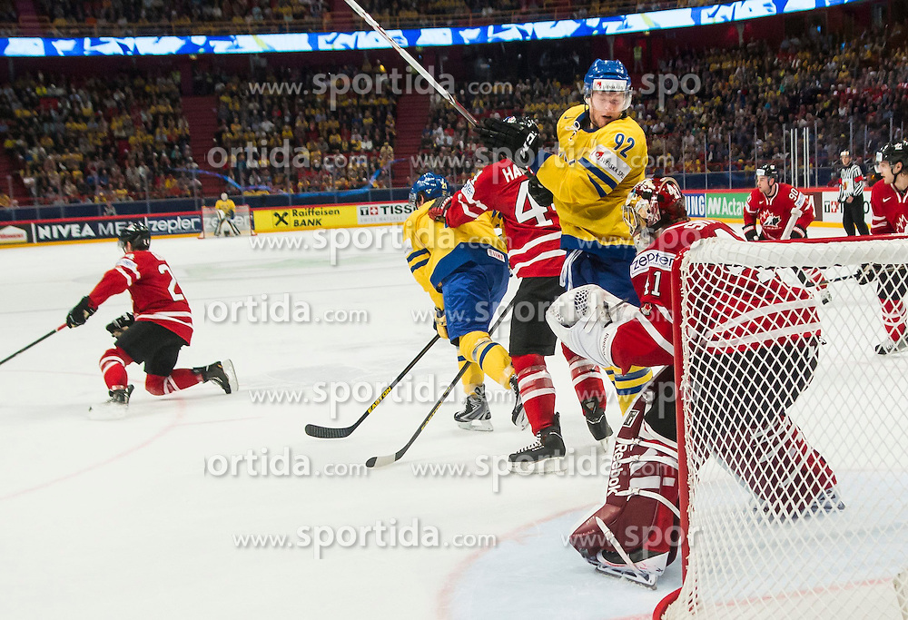 09.05.2013, Globe Arena, Stockholm, SWE, IIHF, Eishockey WM, Schweden vs Canada, im Bild Sverige Sweden 92 Gabriel Landeskog // during the IIHF Icehockey World Championship Game between Sweden and Canada at the Ericsson Globe, Stockholm, Sweden on 2013/05/09. EXPA Pictures © 2013, PhotoCredit: EXPA/ PicAgency Skycam/ Johan Andersson..***** ATTENTION - OUT OF SWE *****