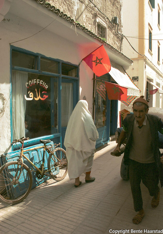 frisørsalong, Essaouira, Marokko..neg