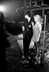BRIGITTE BARDOT and LAURENT TERZIEFF at the filming of Shakespeare's film version of Othello on location at the building site of the Berkeley Hotel, London on 20th September 1966.