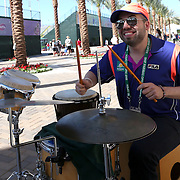 March 16, 2014 Indian Wells, California. Entertainment at the gates ahead of the finals at the 2014 BNP Paribas Open. (Photo by Billie Weiss/BNP Paribas Open)