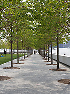 Franklin D. Roosevelt Four Freedoms Park on Roosevelt Island designed by architect Louis Kahn, New York City.