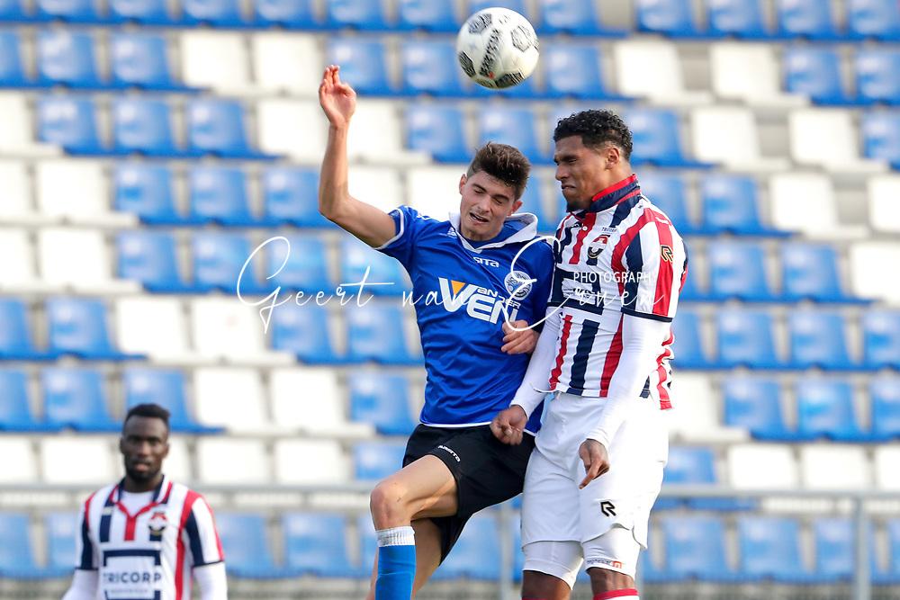 *Darryl Lachman* of Willem II, *Giorgio Siani* of FC Den Bosch