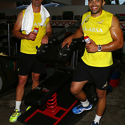 Springboks Gym session and Beverley Hills Hotel on August 03, 2015