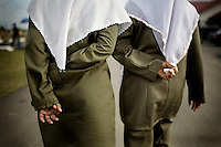 Sharia Police, or the morality police, out on patrol along the jetty in Ulele, just outside of Banda Aceh, on Wednesday, Nov. 11, 2009. They look for young couples sitting too close together or wearing tight-fitting clothing not appropriate for life under Islamic Law. Banda Aceh enforces a moderate form of Islamic Law.