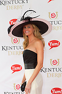Sports broadcaster Erin Andrews seen at the Kentucky Derby in Louisville, Kentucky
