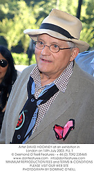 Artist DAVID HOCKNEY at an exhibition in London on 14th July 2003.PLL 1