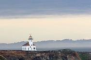 lighthouse on Oregon coast at Sunset Bay