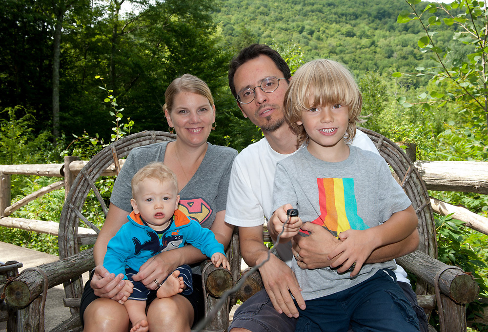 Family portrait in the Catskills