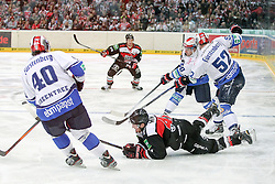 30.11.2014, Lanxess Arena, Köln, GER, DEL, Kölner Haie vs Schwenninger Wild Wings, 22. Runde, im Bild Spielszene // during Germans DEL Icehockey League 22nd round match between Kölner Haie and Schwenninger Wild Wings at the Lanxess Arena in Köln, Germany on 2014/11/30. EXPA Pictures © 2014, PhotoCredit: EXPA/ Eibner-Pressefoto/ Fusswinkel<br /> <br /> *****ATTENTION - OUT of GER*****
