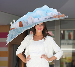 LIVERPOOL, ENGLAND - Thursday, April 8, 2010: A model wearing a specially commissioned Liverpool Day Hat during the Style 2010 fashion show during the opening day of the Grand National Festival at Aintree Racecourse. (Pic by David Rawcliffe/Propaganda)