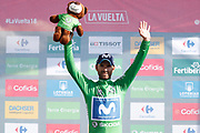 Alejandro Valverde (ESP, Movistar), podium during the 73th Edition of the 2018 Tour of Spain, Vuelta Espana 2018, Stage 13 cycling race, Candas Carreno - La Camperona 174,8 km on September 7, 2018 in Spain - Photo Luca Bettini / BettiniPhoto / ProSportsImages / DPPI