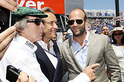 28.05.2011, Circuit de Monaco, Monte Carlo, MCO, Großer Preis von Monaco, Monte Carlo, RACE 06, im Bild  Monte Carlo F1 Grand Prix Impressions - Movie Star Jason Statham (GBR) - Sir Jackie Stewart (GBR), RBS Representitive and Ex F1 World Champion - Jacky Ickx.   EXPA Pictures © 2011, PhotoCredit: EXPA/ nph/  Dieter Mathis        ****** only for AUT, POL & SLO ******