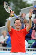 Picture by Ste Jones/Focus Images Ltd.  07706 592282.23/06/12.Greg Rusedski during a exhibition doubles match at the +medicash Liverpool International 2012 tennis at Calderstones Park, Liverpool.
