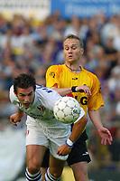 Fotball<br /> Belgia 2003/2004<br /> Foto: Digitalsport<br /> Norway Only<br /> <br /> 18.08.2003<br /> CARL HOEFKENS / GEIR FRIGÅRD<br /> LIERSE / GBA