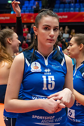 Pascalle Cnossen celebrate in the cup final between Sliedrecht Sport and Laudame Financials VCN on February 16, 2020 in De Maaspoort in Den Bosch.