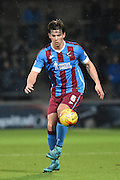 Niall Canavan of Scunthorpe United  during the Sky Bet League 1 match between Scunthorpe United and Sheffield Utd at Glanford Park, Scunthorpe, England on 19 December 2015. Photo by Ian Lyall.