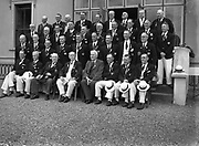 16/07/1952<br /> 07/16/1952<br /> 16 July 1952<br /> Eamon De Valera speaking at opening  day of International Bowling, Clontarf Golf Club Bowling Green, Dublin. The Scottish Team.