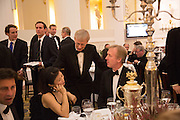 MRS. JAMES PULSFORD;  JAMES PULSFORD; ; JONATHAN GREIG; , The National Trust for Scotland Mansion House Dinner. Mansion House, London. 16 October 2013