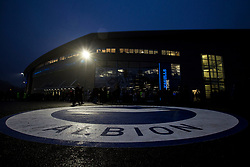 New Brighton and Hove Albion logo is painted on the floor outside the Amex Stadium - Mandatory by-line: Jason Brown/JMP - 10/03/2017 - FOOTBALL - Amex Stadium - Brighton, England - Brighton and Hove Albion v Derby County - Sky Bet Championship