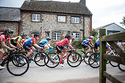 Coryn Rivera (USA) of Team Sunweb rides mid-pack on Stage 3 of 2019 OVO Women's Tour, a 145.1 km road race from Henley-on-Thames to Blenheim Palace, United Kingdom on June 12, 2019. Photo by Balint Hamvas/velofocus.com