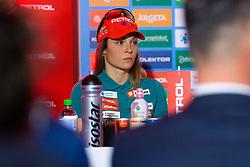 Nika Vindisar during press conference of Slovenian Nordic Ski Cross country team before new season 2019/20, on Novamber 12, 2019, in Petrol, Ljubljana, Slovenia. Photo Grega Valancic / Sportida
