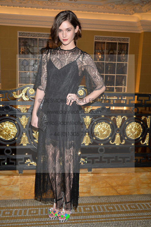 SAI BENNETT at the Lancôme BAFTA Dinner held at The Cafe Royal, Regent's Street, London on 6th February 2015.