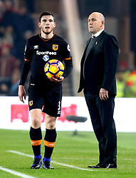 Hull City manager Mike Phelan watches Andrew Robertson of Hull City take a throw in - Mandatory by-line: Robbie Stephenson/JMP - 05/12/2016 - FOOTBALL - Riverside Stadium - Middlesbrough, England - Middlesbrough v Hull City - Premier League