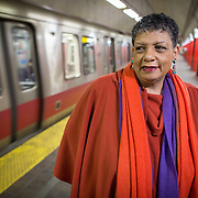 03/29/2014  BOSTON, MA   MBTA General Manager Beverly Scott (cq) watched as red line trains passed through the Park Street Station at 1:30 a.m. during the first night of the MBTA's late night service extension from 1:00 a.m. to 2:30 a.m. on Friday and Saturday nights.   (Aram Boghosian for The Boston Globe)
