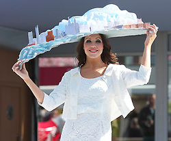 LIVERPOOL, ENGLAND - Thursday, April 8, 2010: A model wearing a specially commissioned Liverpool Day Hat during the Style 2010 fashion show during the opening day of the Grand National Festival at Aintree Racecourse. (Pic by David Tickle/Propaganda)
