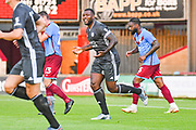 Wes Morgan of Leicester City (5) reacts during the Pre-Season Friendly match between Scunthorpe United and Leicester City at Glanford Park, Scunthorpe, England on 16 July 2019.