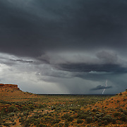 Storm and Lightnings above Kings Canyon in Northern Territories.