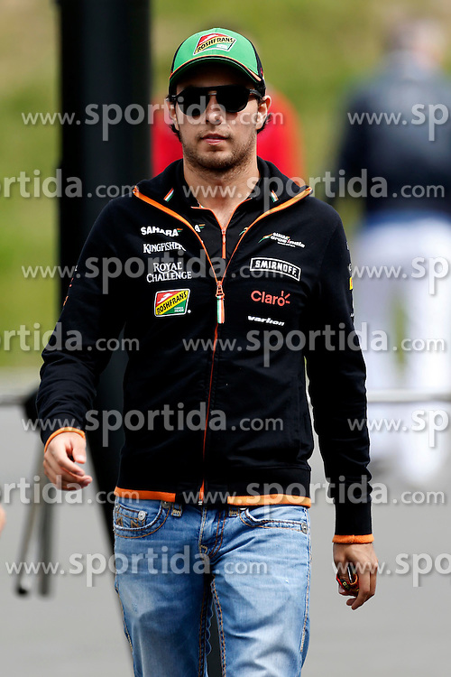21.06.2014, Red Bull Ring, Spielberg, AUT, FIA, Formel 1, Grosser Preis von &Ouml;sterreich, Qualifying, im Bild Sergio Perez (MEX) Force India. // during the qualifying of the Austrian Formula One Grand Prix at the Red Bull Ring in Spielberg, Austria on 2014/06/21. EXPA Pictures &copy; 2014, PhotoCredit: EXPA/ Sutton Images/ Martini<br /> <br /> *****ATTENTION - for AUT, SLO, CRO, SRB, BIH, MAZ only*****