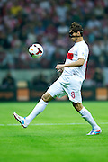 Poland's Grzegorz Krychowiak controls the ball during the 2014 World Cup Qualifying Group H football match between Poland and Montenegro at National Stadium in Warsaw on September 06, 2013.<br /> <br /> Poland, Warsaw, September 06, 2013<br /> <br /> Picture also available in RAW (NEF) or TIFF format on special request.<br /> <br /> For editorial use only. Any commercial or promotional use requires permission.<br /> <br /> Mandatory credit:<br /> Photo by &copy; Adam Nurkiewicz / Mediasport