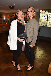 Left to right, Eliza Woodcock and Fia Tarrant at the opening of The Ivy Cobham Brasserie, Cobham, Surrey, England. 31 May 2017.