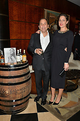 MICHAEL MELDMAN and ? at the London launch of Casamigos Tequila hosted by Rande Gerber, George Clooney & Michael Meldman and to celebrate Cindy Crawford's new book 'Becoming' held at The Beaumont Hotel, Brown Hart Gardens, 8 Balderton Street, London on 1st October 2015.