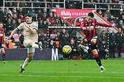 Harry Wilson (22) of AFC Bournemouth shoots at goal during the Premier League match between Bournemouth and Manchester United at the Vitality Stadium, Bournemouth, England on 2 November 2019.