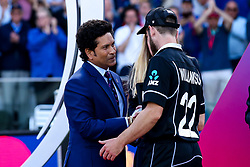 Kane Williamson of New Zealand receives his Man of the Tournament award his side's World Cup Final defeat to England - Mandatory by-line: Robbie Stephenson/JMP - 14/07/2019 - CRICKET - Lords - London, England - England v New Zealand - ICC Cricket World Cup 2019 - Final