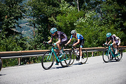Tayler Wiles (USA) on the final climb at Giro Rosa 2018 - Stage 6, a 114.1 km road race from Sovico to Gerola Alta, Italy on July 11, 2018. Photo by Sean Robinson/velofocus.com