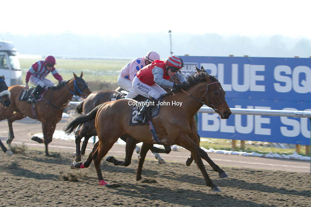 Taajub and Ian Mongan winning the 1.40 race