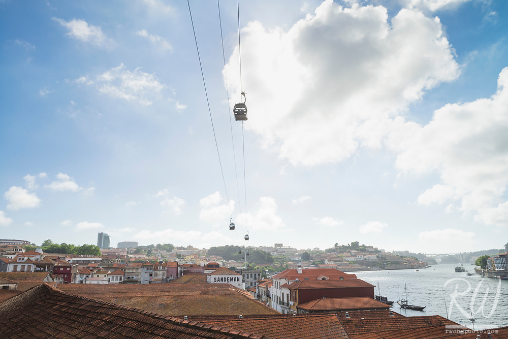 Aerial Tramway Over Port Wineries, Vila Nova de Gaia, Portugal