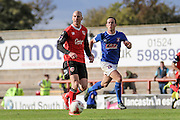 Morecambe Midfielder Kevin Ellison during the EFL Sky Bet League 2 match between Morecambe and Carlisle United at the Globe Arena, Morecambe, England on 8 October 2016. Photo by Pete Burns.