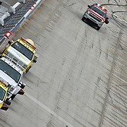 NASCAR crew drying the Dover track after the rain stoppage at Dover International Speedway in Dover Delaware.<br /> <br /> Special to The News Journal/SAQUAN STIMPSON