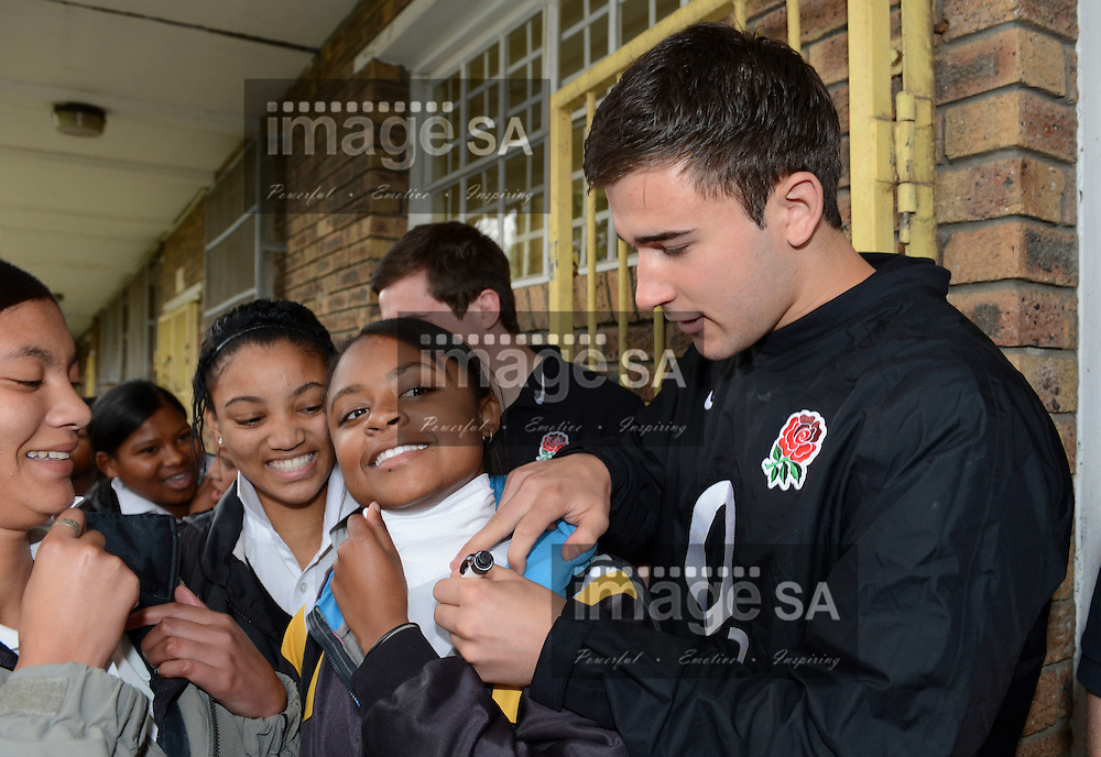 BELLVILLE, SOUTH AFRICA: Tuesday 5 June 2012, members of the England rugby team visit Symphony High School in Belhar, (outside Cape Town) as part of the IRB Legacy Program. .Photo by Roger Sedres/ImageSA