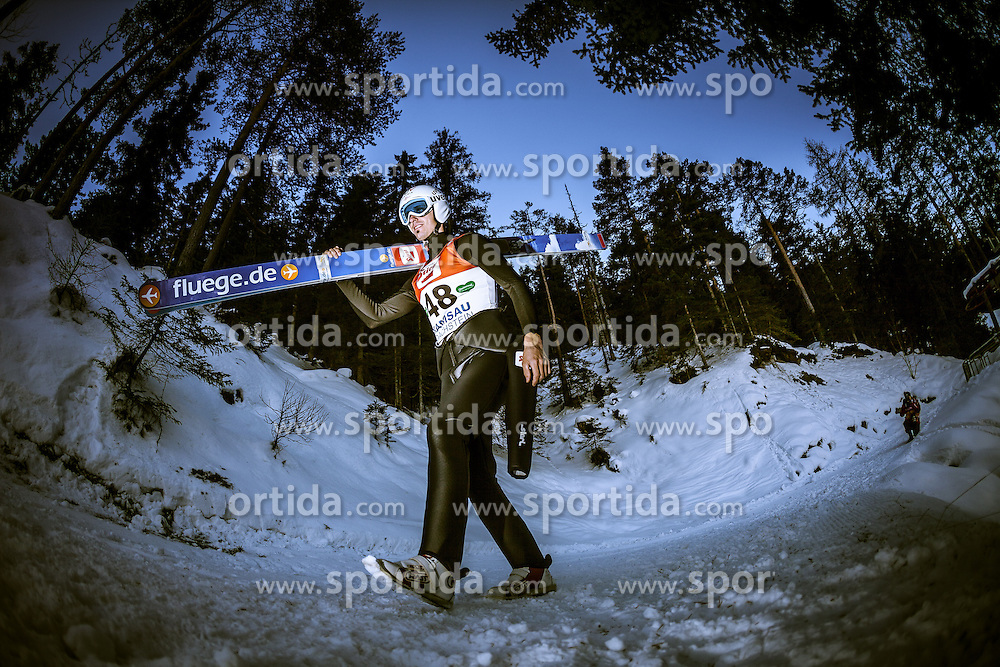 13.12.2013, Nordische Arena, Ramsau, AUT, FIS Nordische Kombination Weltcup, Skisprung Training, im Bild Lukas Klapfer (AUT) // Lukas Klapfer (AUT) during Ski Jumping Training of FIS Nordic Combined World Cup at the Nordic Arena in Ramsau, Austria on 2013/12/13. EXPA Pictures © 2013, EXPA/ JFK